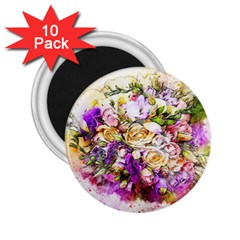 Flowers Bouquet Art Nature 2 25  Magnets (10 Pack)