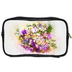 Flowers Bouquet Art Nature Toiletries Bags 2 Side