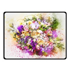 Flowers Bouquet Art Nature Fleece Blanket (small) by Nexatart