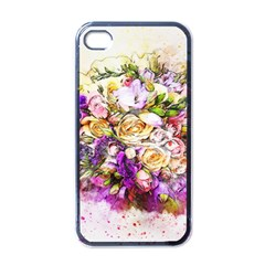 Flowers Bouquet Art Nature Apple Iphone 4 Case (black) by Nexatart