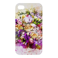 Flowers Bouquet Art Nature Apple Iphone 4/4s Premium Hardshell Case by Nexatart