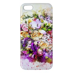 Flowers Bouquet Art Nature Apple Iphone 5 Premium Hardshell Case by Nexatart