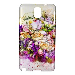 Flowers Bouquet Art Nature Samsung Galaxy Note 3 N9005 Hardshell Case by Nexatart