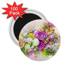 Flowers Bouquet Art Nature 2 25  Magnets (100 Pack)