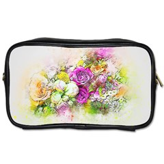Flowers Bouquet Art Nature Toiletries Bags 2 Side by Nexatart