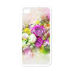 Flowers Bouquet Art Nature Apple Iphone 4 Case (white) by Nexatart