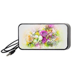 Flowers Bouquet Art Nature Portable Speaker