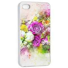 Flowers Bouquet Art Nature Apple Iphone 4/4s Seamless Case (white) by Nexatart