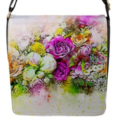 Flowers Bouquet Art Nature Flap Messenger Bag (s)