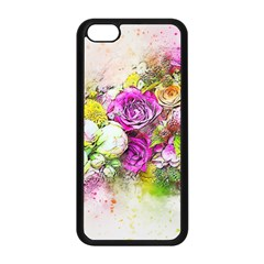 Flowers Bouquet Art Nature Apple Iphone 5c Seamless Case (black) by Nexatart