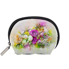 Flowers Bouquet Art Nature Accessory Pouches (small)  by Nexatart