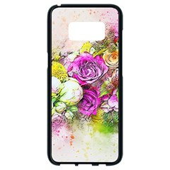 Flowers Bouquet Art Nature Samsung Galaxy S8 Black Seamless Case by Nexatart