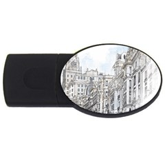 Architecture Building Design Usb Flash Drive Oval (4 Gb)
