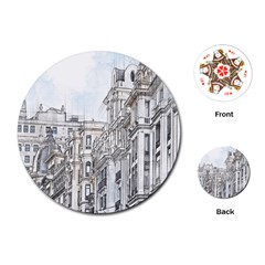 Architecture Building Design Playing Cards (round)  by Nexatart