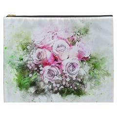 Flowers Bouquet Art Nature Cosmetic Bag (xxxl)  by Nexatart