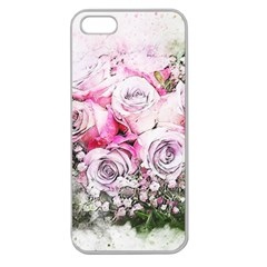 Flowers Bouquet Art Nature Apple Seamless Iphone 5 Case (clear) by Nexatart