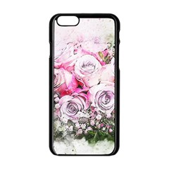 Flowers Bouquet Art Nature Apple Iphone 6/6s Black Enamel Case