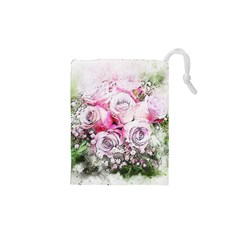 Flowers Bouquet Art Nature Drawstring Pouches (xs)  by Nexatart