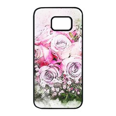 Flowers Bouquet Art Nature Samsung Galaxy S7 Edge Black Seamless Case by Nexatart