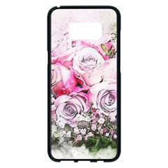 Flowers Bouquet Art Nature Samsung Galaxy S8 Plus Black Seamless Case by Nexatart