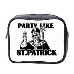 St  Patricks Day  Mini Toiletries Bag 2 Side by Valentinaart