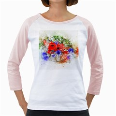 Flowers Bouquet Art Nature Girly Raglans by Nexatart