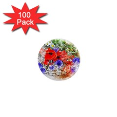 Flowers Bouquet Art Nature 1  Mini Magnets (100 Pack)  by Nexatart
