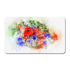 Flowers Bouquet Art Nature Magnet (rectangular)