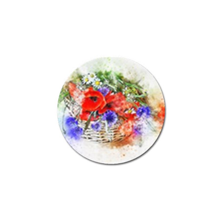 Flowers Bouquet Art Nature Golf Ball Marker