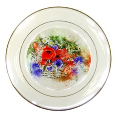 Flowers Bouquet Art Nature Porcelain Plates by Nexatart