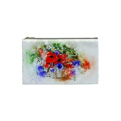 Flowers Bouquet Art Nature Cosmetic Bag (small)  by Nexatart