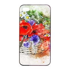 Flowers Bouquet Art Nature Apple Iphone 4/4s Seamless Case (black) by Nexatart