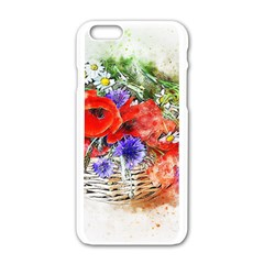 Flowers Bouquet Art Nature Apple Iphone 6/6s White Enamel Case by Nexatart