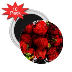 Strawberry Fruit Food Art Abstract 2 25  Magnets (10 Pack)  by Nexatart