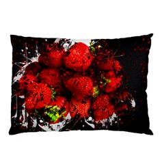 Strawberry Fruit Food Art Abstract Pillow Case by Nexatart