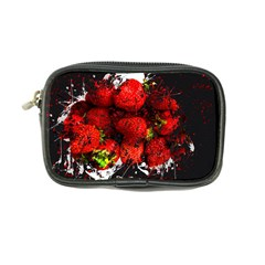 Strawberry Fruit Food Art Abstract Coin Purse by Nexatart