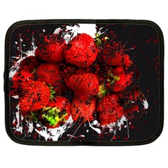 Strawberry Fruit Food Art Abstract Netbook Case (xxl)  by Nexatart