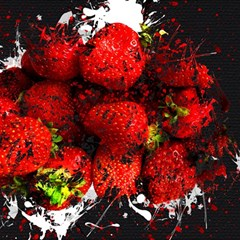 Strawberry Fruit Food Art Abstract Magic Photo Cubes by Nexatart