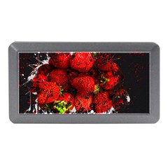 Strawberry Fruit Food Art Abstract Memory Card Reader (mini) by Nexatart