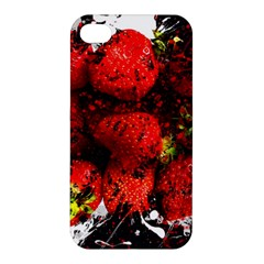 Strawberry Fruit Food Art Abstract Apple Iphone 4/4s Premium Hardshell Case