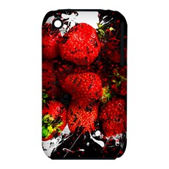 Strawberry Fruit Food Art Abstract Iphone 3s/3gs by Nexatart