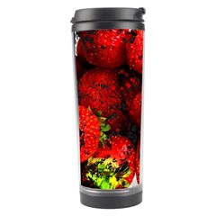 Strawberry Fruit Food Art Abstract Travel Tumbler by Nexatart