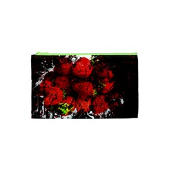 Strawberry Fruit Food Art Abstract Cosmetic Bag (xs) by Nexatart
