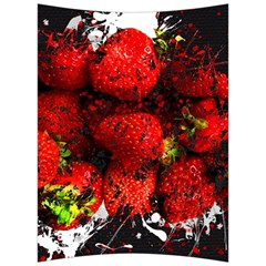 Strawberry Fruit Food Art Abstract Back Support Cushion by Nexatart