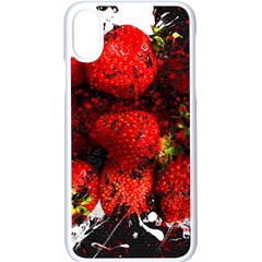 Strawberry Fruit Food Art Abstract Apple Iphone X Seamless Case (white)