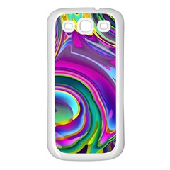 Background Art Abstract Watercolor Samsung Galaxy S3 Back Case (white)