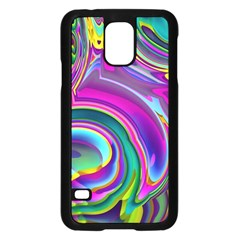 Background Art Abstract Watercolor Samsung Galaxy S5 Case (black) by Nexatart