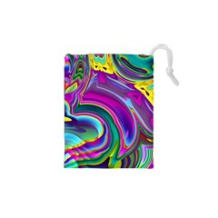Background Art Abstract Watercolor Drawstring Pouches (xs)  by Nexatart