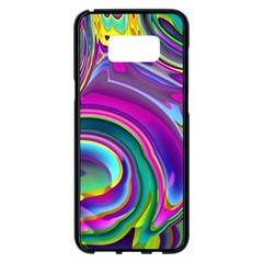 Background Art Abstract Watercolor Samsung Galaxy S8 Plus Black Seamless Case