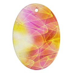 Background Art Abstract Watercolor Ornament (oval) by Nexatart